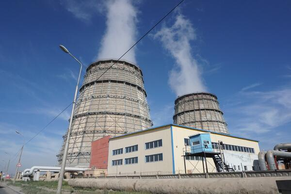 Image shows the exterior view of a power plant
