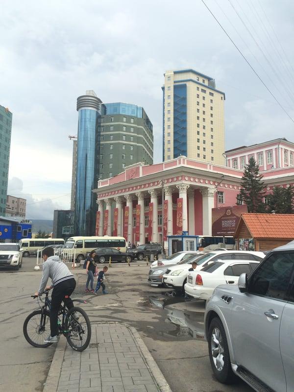 Image shows the street view of Ulaanbaataar