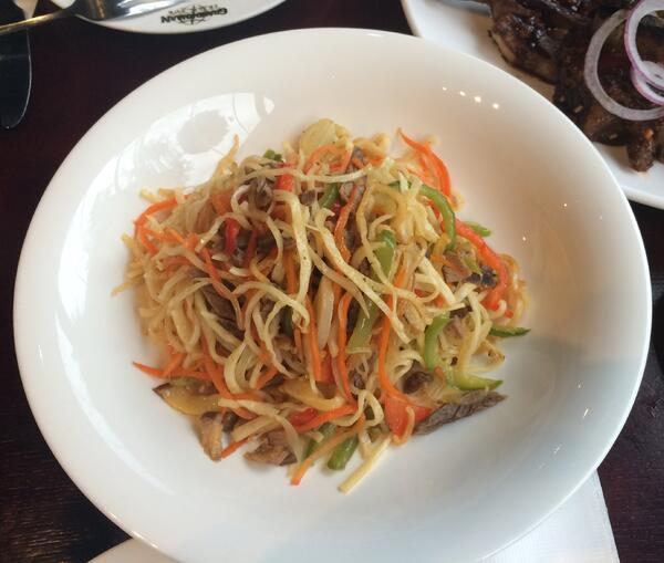 Image shows a Mongolian dish- Tsuvian